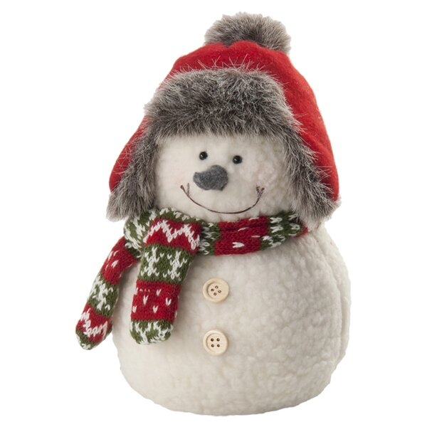 Pudgy Snowman Plush Figurine by The Holiday Aisle