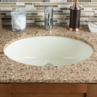 Ceramic Oval Undermount Bathroom Sink with Overflow Hahn