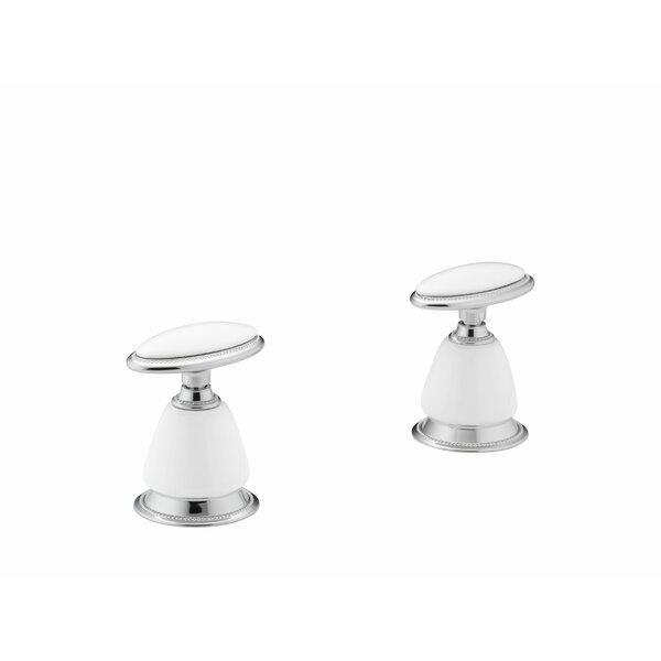 Antique Ceramic Handle Insets for Bath Faucets by Kohler