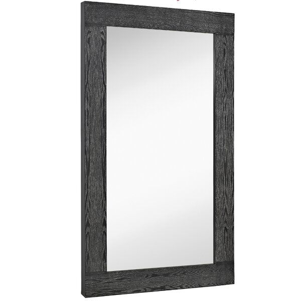 Oversized Modern Rectangular Black With White Wash Wood Frame Wall Mirror Panels by Majestic Mirror