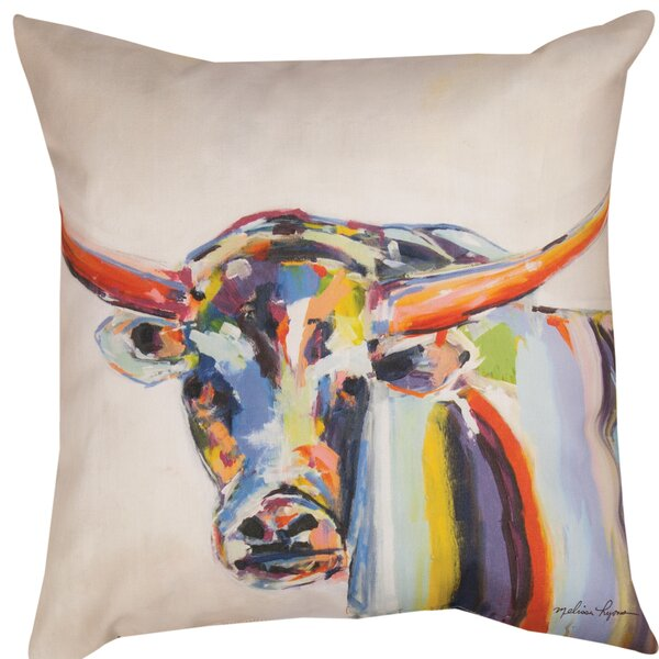 Longhorn Dye Throw Pillow by Manual Woodworkers & Weavers