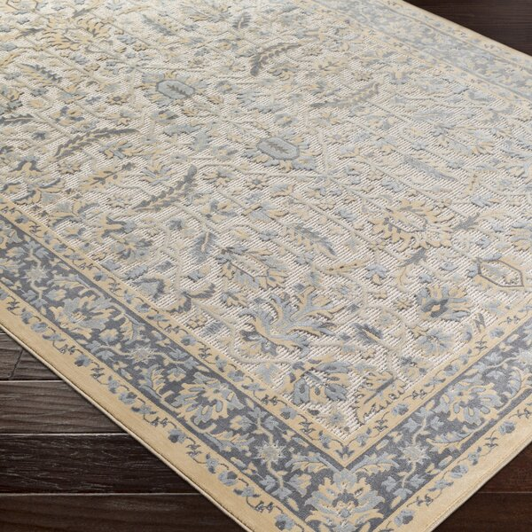 Brooks Farm Blue/Yellow Area Rug by Charlton Home