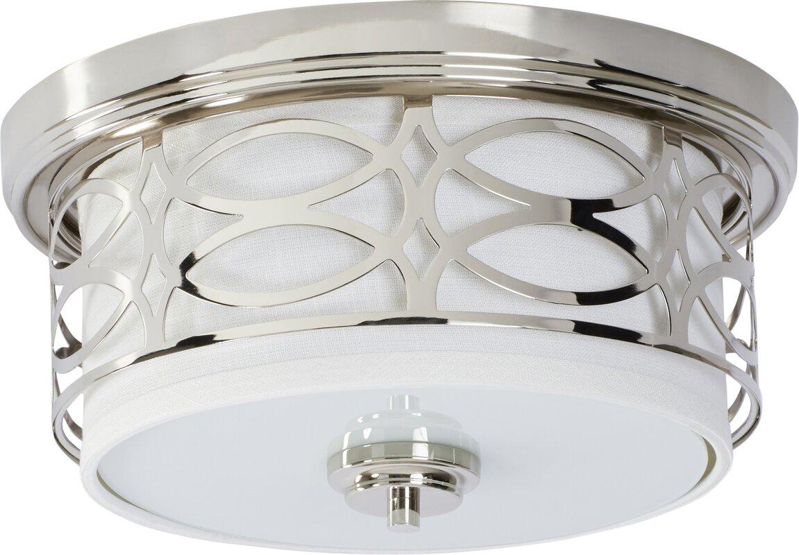 Ava Bathroom Pendant Light: Helina 2-Light Flush Mount & Reviews