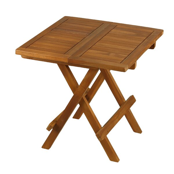 Folding  Solid Wood Side Table by Bare Decor