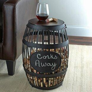 Barrel Cork Catcher End Table