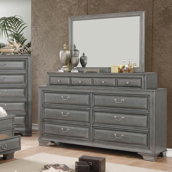 Brodnax 10 Drawer Double Dresser by Charlton Home