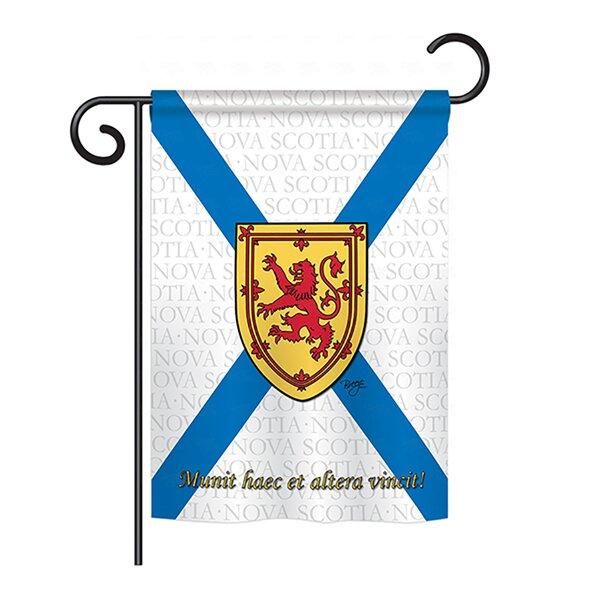 Nova Scotia 2-Sided Vertical Flag by Breeze Decor
