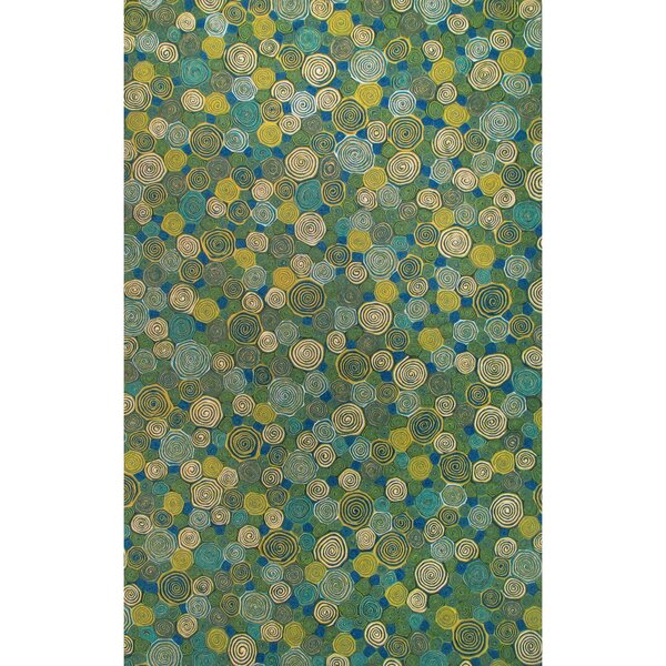 Derek Swirls Indoor/Outdoor Rug by Ebern Designs