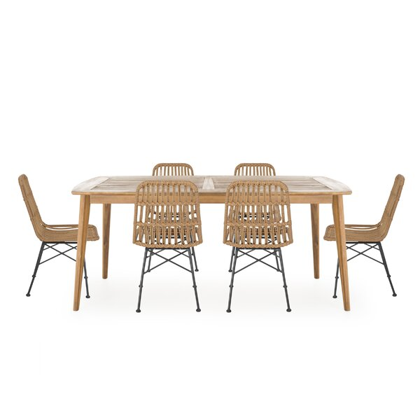 Naima A Table And 6 Chairs Dining Set Bayou Breeze W003152156