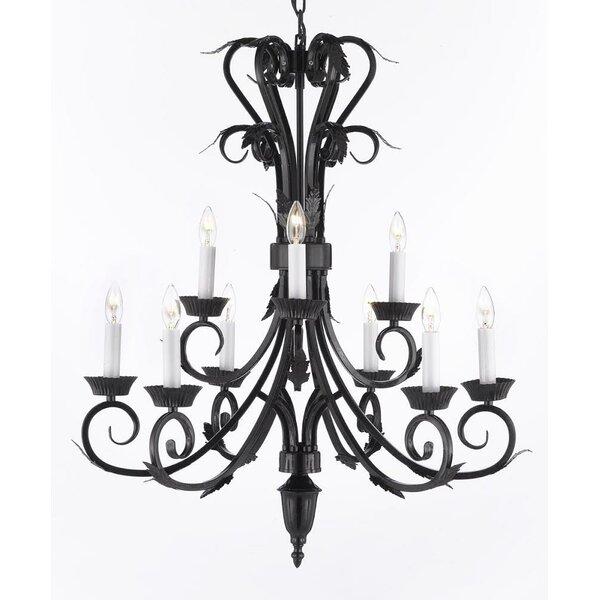 Locascio 9-Light Candle Style Tiered Chandelier by Astoria Grand Astoria Grand