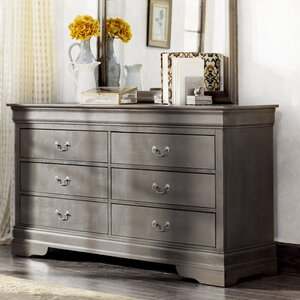 Mayssa 6 Drawer Double Dresser