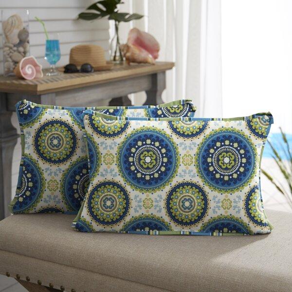 Merida Indoor/Outdoor Lumbar Pillow (Set of 2) by Bloomsbury Market