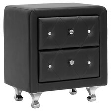 Baxton Studio Nightstand in Black by Wholesale Interiors
