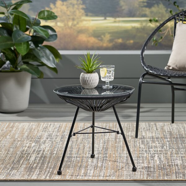 Taylor Outdoor Modern Side Table by Wrought Studio