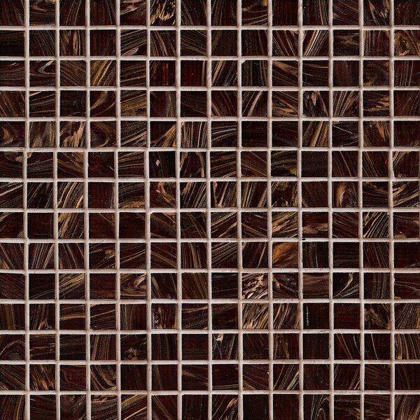 0.75'' x 0.75'' Glass Mosaic Tile in Brown Iridescent by MSI