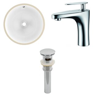 Great choice Ceramic Circular Undermount Bathroom Sink with Faucet and Overflow ByRoyal Purple Bath Kitchen