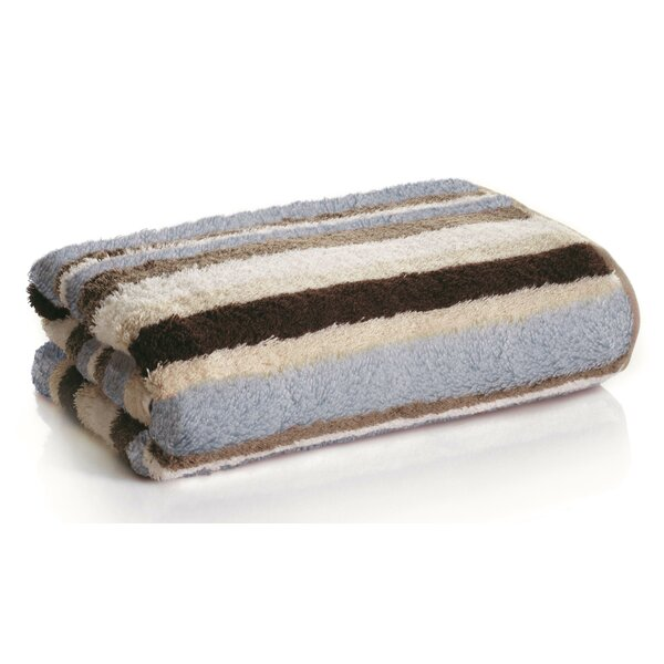 Striped Bamboo Bath Towel (Set of 2) by Daisy House