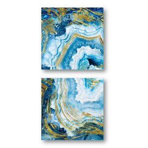 'Agate' Print Multi-Piece Image on Canvas by Everly Quinn