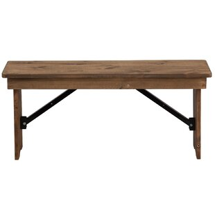 Escarcega 12'' Rectangular Folding Bench
