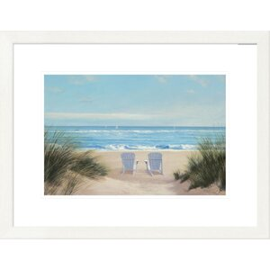'Coastal Among Friends II' by Diane Romanello Framed Graphic Art by Global Gallery