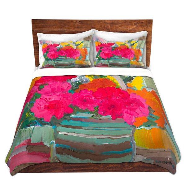 Maubara Hooshang Khorasani Pink Bouquet Flowers Microfiber Duvet Covers