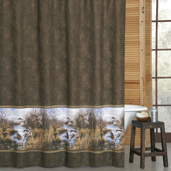Talbott Duck Approach Cotton Shower Curtain by Millwood Pines