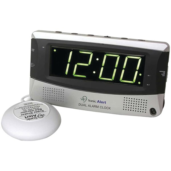 Sonic Bomb Dual Alarm Tabletop Clock by Symple Stuff