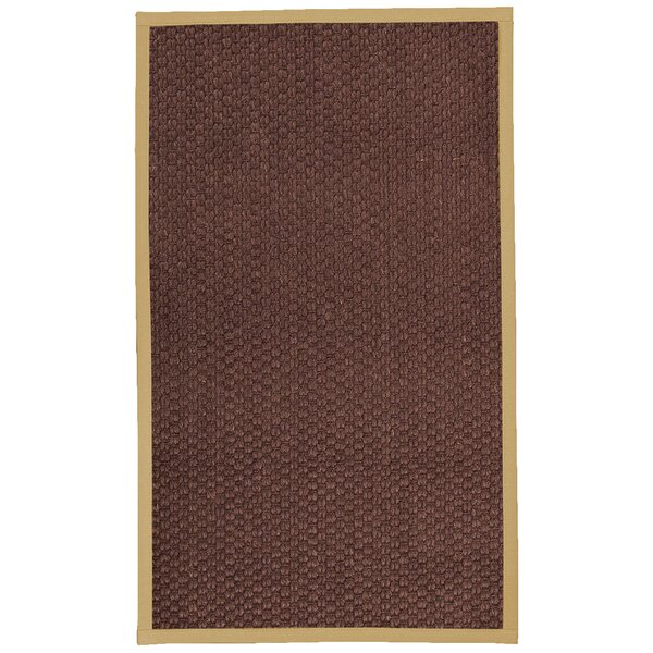 Kerrick Border Hand-Woven Brown/Sand Area Rug