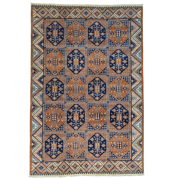 Garden Afghan Ersari Hand-Knotted Brown Area Rug by Bloomsbury Market