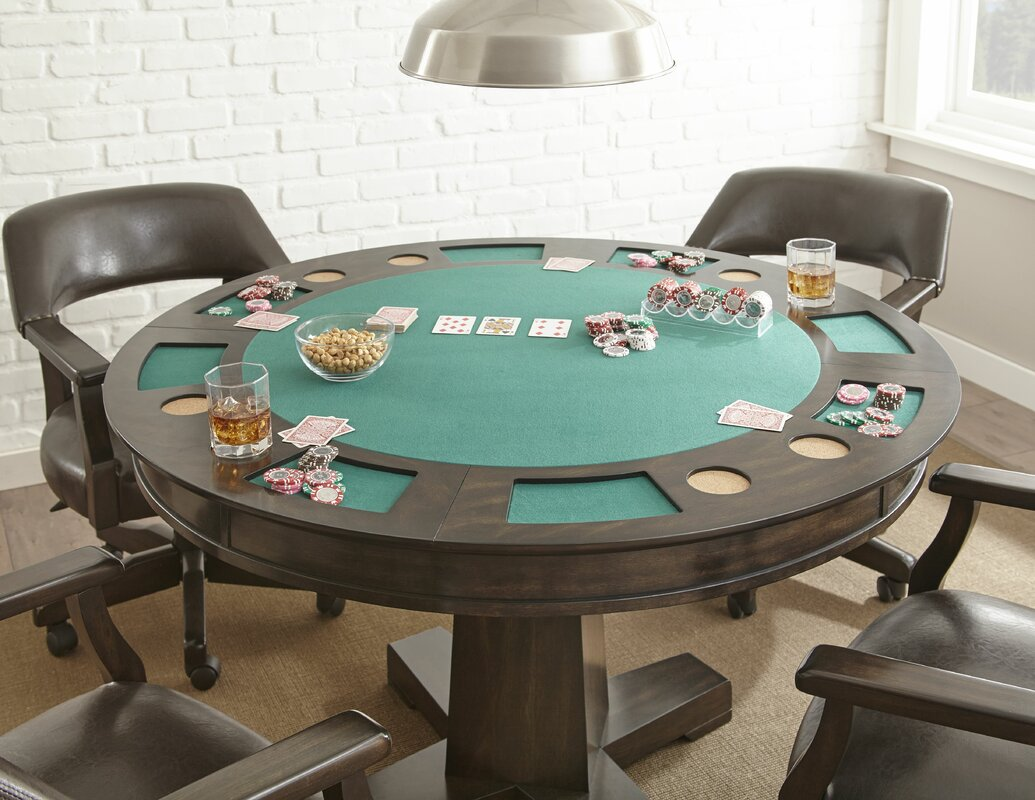 red barrel studio 52 malcolm dining game poker table set