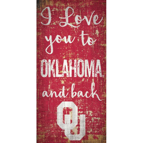 NCAA I Love you to Wall Décor by Fan Creations