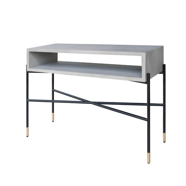 Thibeault Concrete and Metal Console Table by Williston Forge