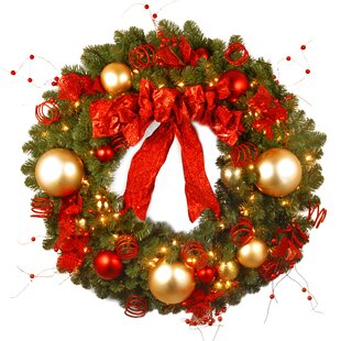 pre lit cozy christmas wreath - Large Outdoor Christmas Wreath