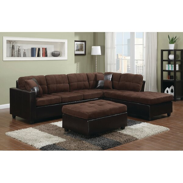 Coretta Reversible Sectional With Ottoman By Winston Porter