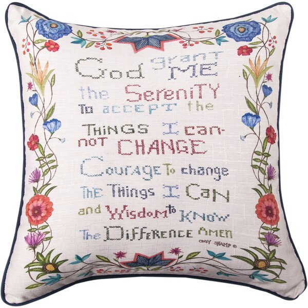 God Grant Me the Serenity Throw Pillow by Manual Woodworkers & Weavers