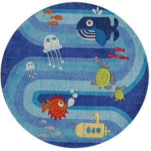 Johnnie Hand-Tufted Blue Kids Rug by Viv + Rae