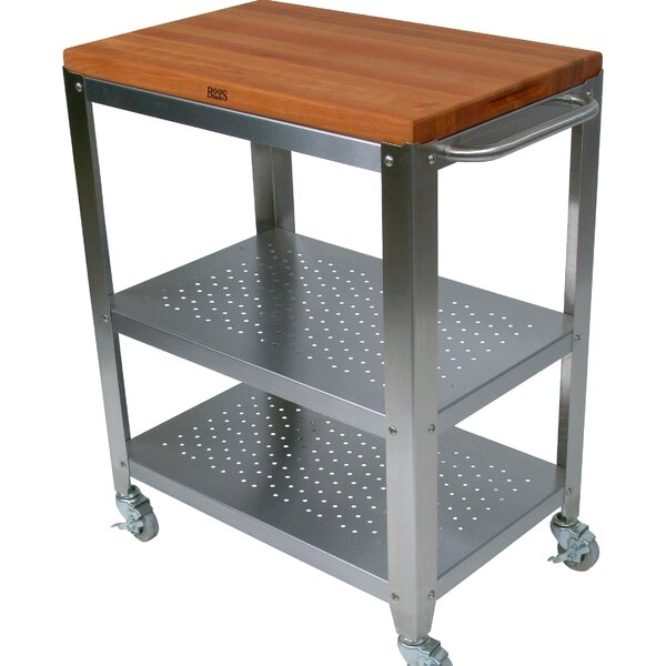 Cucina Americana Kitchen Cart with Solid Wood Top by John Boos