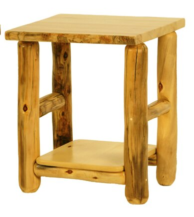Rustic Arts® End Table by Mountain Woods Furniture