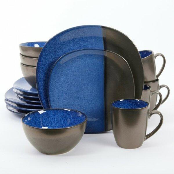 Elite Volterra 16 Piece Dinnerware Set, Service for 4 by Gibson