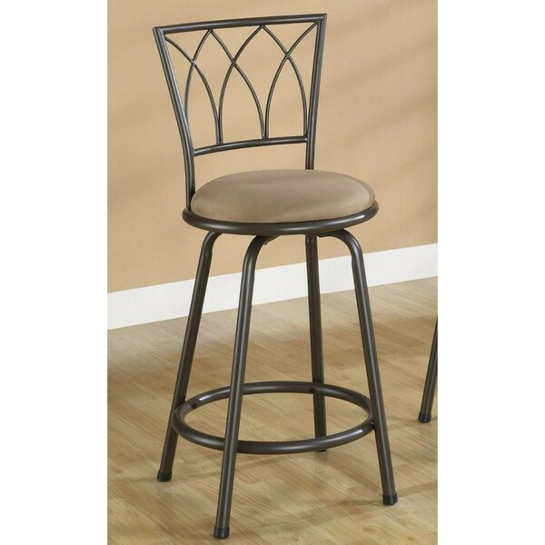 Hardesty Metal Adjustable Height Bar Stool (Set of 2) by Winston Porter