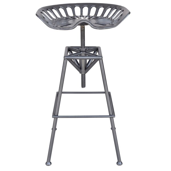 Emelie Adjustable Height Swivel Bar Stool by 17 Stories 17 Stories