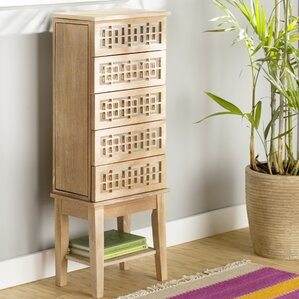 Larkson Jewelry Armoire by Mistana