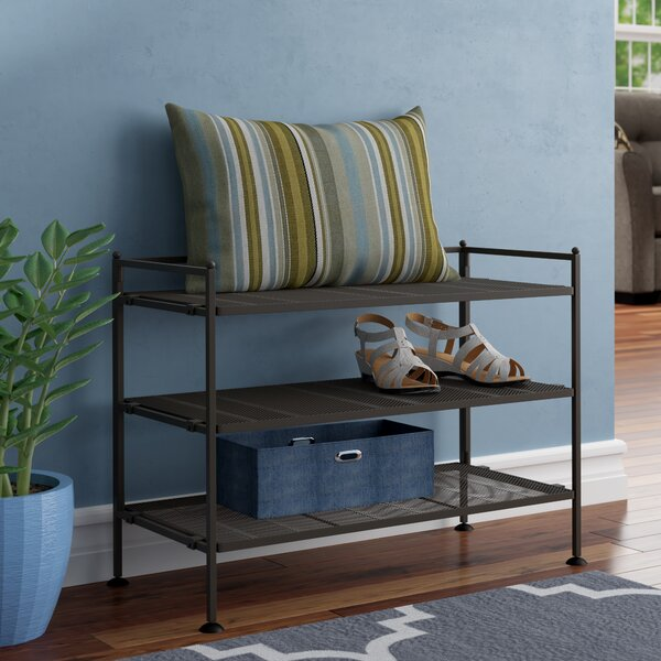 3-Tier 9 Pair Stackable Shoe Rack