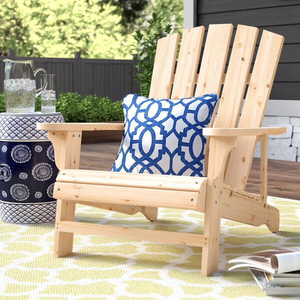 Allard Falls Solid Wood Adirondack Chair By Charlton Home