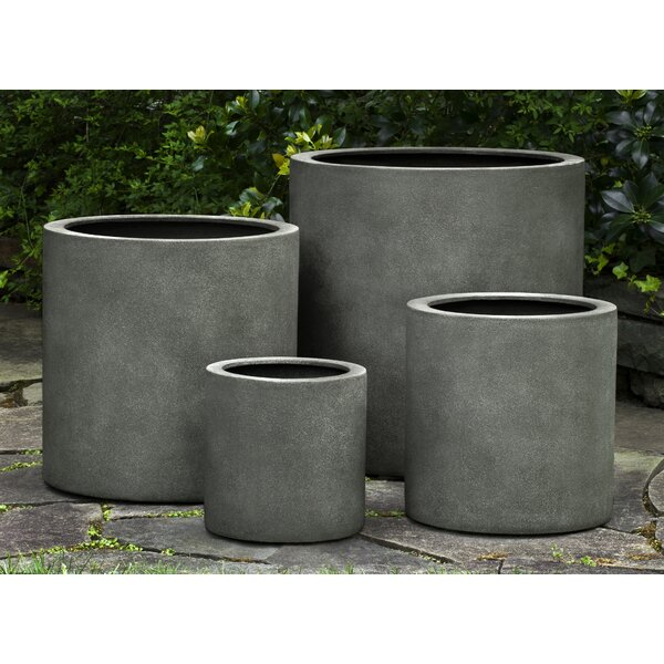 Pombo Fiberglass Pot Planter (Set of 4) by 17 Stories