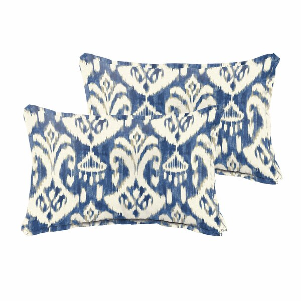 Pederson Indoor/Outdoor Flange Lumbar Pillow (Set of 2) by Andover Mills