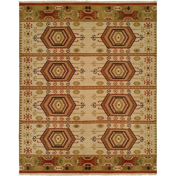 Qinhuangdao Hand-Woven Beige/Red Area Rug by Wildon Home ®