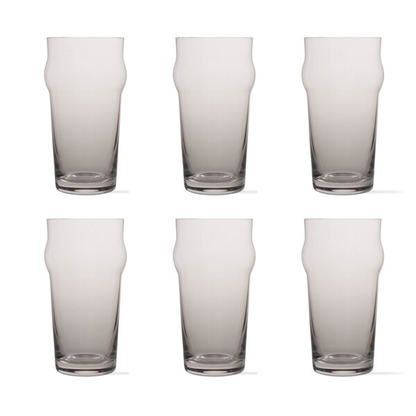 Tag Craft 22 oz. Crystal Pint Glass (Set of 6) by TAG