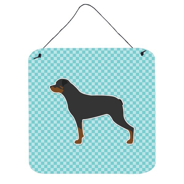 Rottweiler Checkerboard Wall Décor by East Urban Home