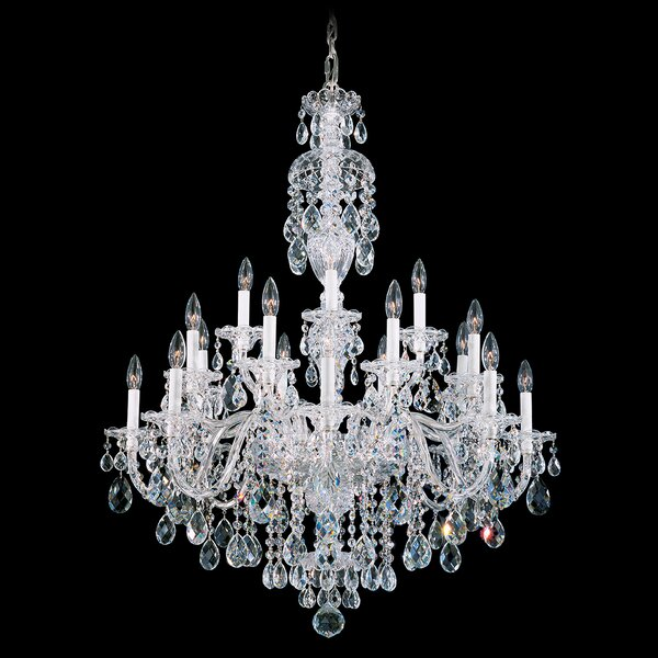 Sterling 20-Light Candle Style Tiered Chandelier By Schonbek